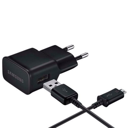 Productafbeelding van de Samsung USB Thuislader + Micro-USB kabel EP-TA12 Black