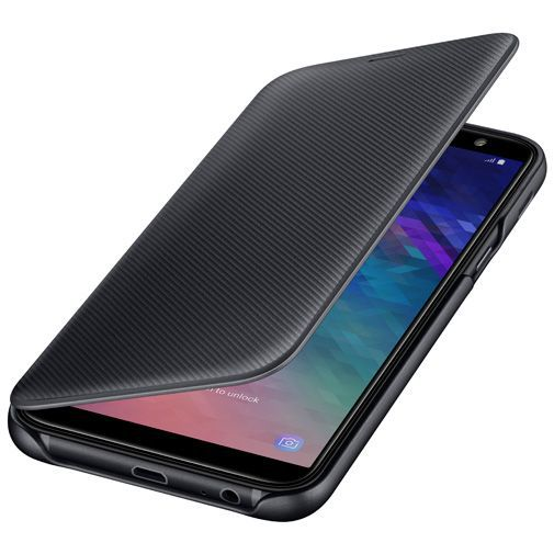 Productafbeelding van de Samsung Wallet Cover Black Galaxy A6