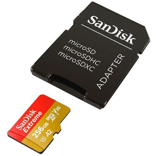 Productafbeelding van de SanDisk Extreme microSDXC 256GB + SD-adapter