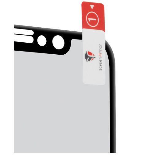 Productafbeelding van de ScreenArmor Glass Armor Edge-to-Edge Screenprotector Black Apple iPhone X/S
