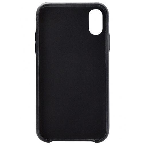 Produktimage des Senza Pure Lederhülle + Kartenfach Schwarz Apple iPhone XR