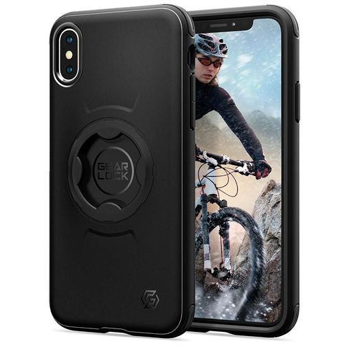 Produktimage des Spigen Gearlock Fahrradhalterung Case Apple iPhone X/XS