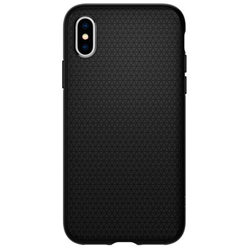 Produktimage des Spigen Liquid Air Hülle Matt Schwarz Apple iPhone XS