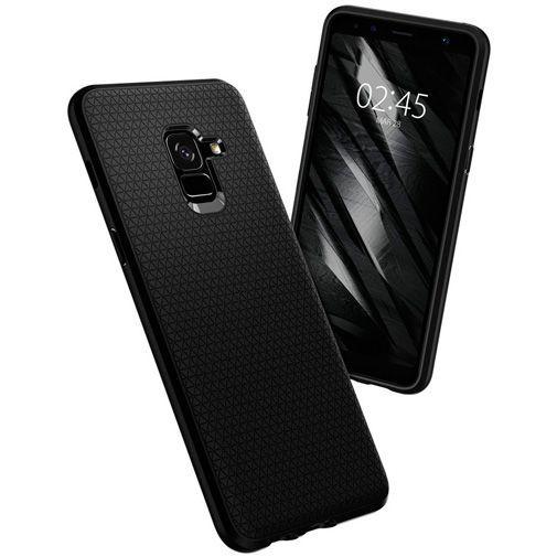 Productafbeelding van de Spigen Liquid Air Case Black Samsung Galaxy A8 (2018)