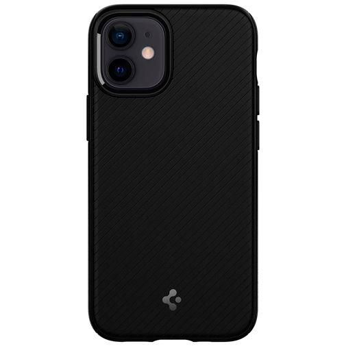 Productafbeelding van de Spigen Mag Armor Kunststof Back Cover Zwart Apple iPhone 12 Mini