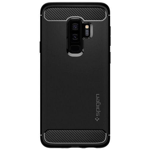 Produktimage des Spigen Rugged Armor Hülle Schwarz Samsung Galaxy S9+