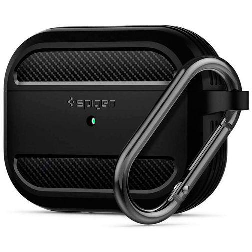 Productafbeelding van de Spigen Rugged Armor Case Black Airpods Pro
