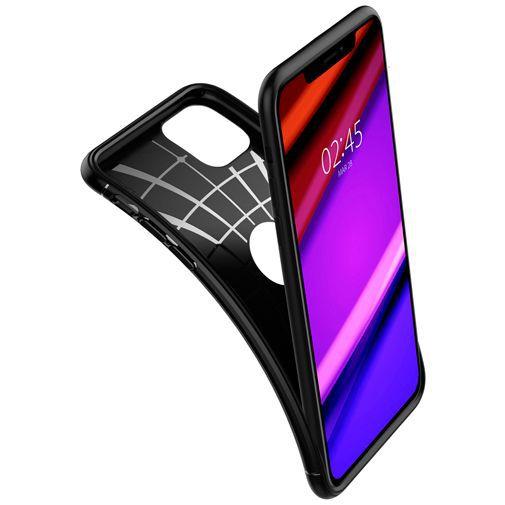 Productafbeelding van de Spigen Rugged Armor Case Black Apple iPhone 11