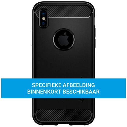 Productafbeelding van de Spigen Rugged TPU Back Cover Apple iPhone 12 Mini Zwart
