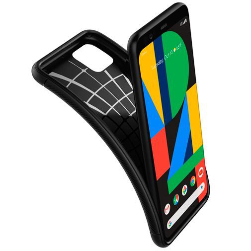 Productafbeelding van de Spigen Rugged Armor Case Black Google Pixel 4 XL