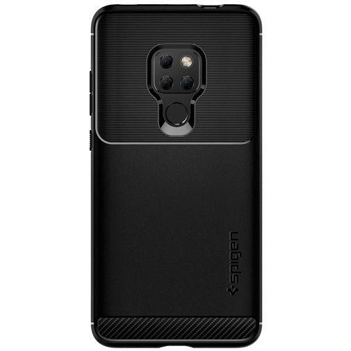 Productafbeelding van de Spigen Rugged Armor Case Black Huawei Mate 20