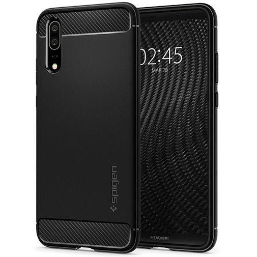 Productafbeelding van de Spigen Rugged Armor Case Black Huawei P20