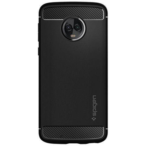 Productafbeelding van de Spigen Rugged Armor Case Black Motorola Moto G6