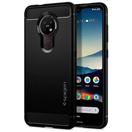 Productafbeelding van de Spigen Rugged Armor Case Black Nokia 6.2/7.2