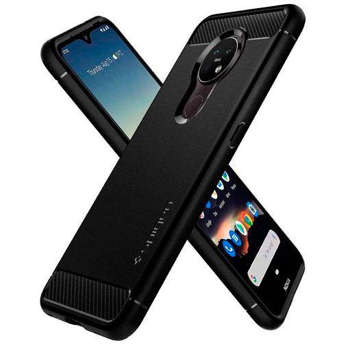 Produktimage des Spigen Rugged Armor Hülle Schwarz Nokia 6.2/7.2