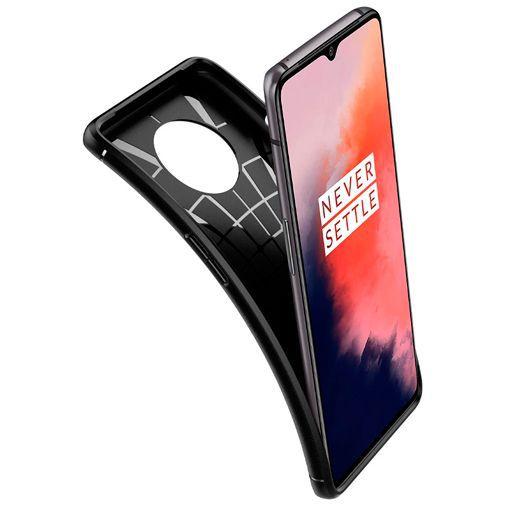 Productafbeelding van de Spigen Rugged Armor Case Black OnePlus 7T