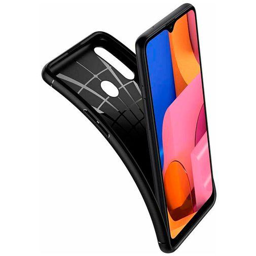 Productafbeelding van de Spigen Rugged Armor Case Black Samsung Galaxy A20s