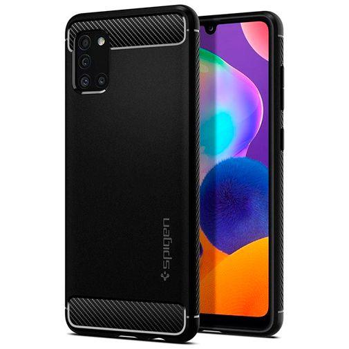 Productafbeelding van de Spigen Rugged Armor Case Black Samsung Galaxy A31