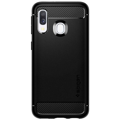 Productafbeelding van de Spigen Rugged Armor Case Black Samsung Galaxy A40