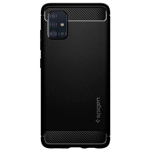Productafbeelding van de Spigen Rugged Armor Case Black Samsung Galaxy A51 4G
