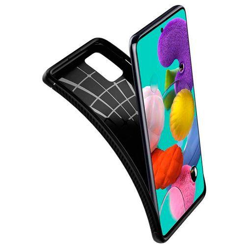 Produktimage des Spigen Rugged Armor Hülle Schwarz Samsung Galaxy A51 4G