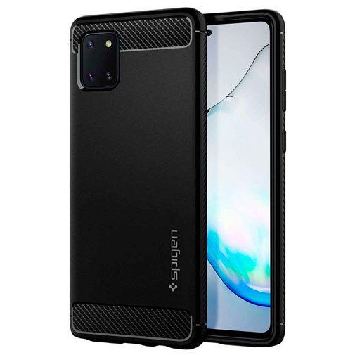 Productafbeelding van de Spigen Rugged Armor Case Black Samsung Galaxy Note 10 Lite