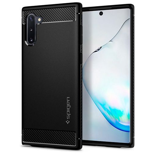 Productafbeelding van de Spigen Rugged Armor Case Black Samsung Galaxy Note 10