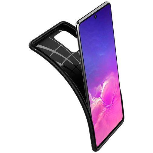 Productafbeelding van de Spigen Rugged Armor Case Black Samsung Galaxy S10 Lite