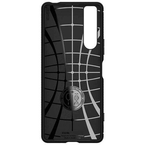 Productafbeelding van de Spigen Rugged Armor Case Black Sony Xperia 1 II