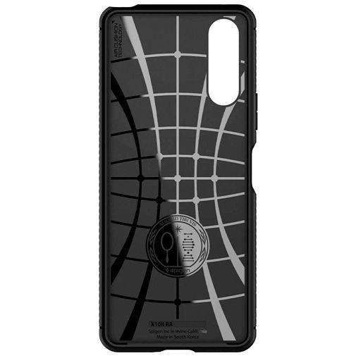 Productafbeelding van de Spigen Rugged Armor Case Black Sony Xperia 10 II