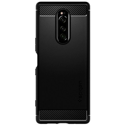 Productafbeelding van de Spigen Rugged Armor Case Black Sony Xperia 1