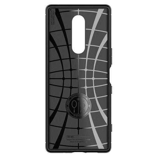 Produktimage des Spigen Rugged Armor Hülle Schwarz Sony Xperia 1