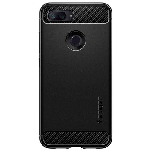 Productafbeelding van de Spigen Rugged Armor Case Black Xiaomi Mi 8 Lite
