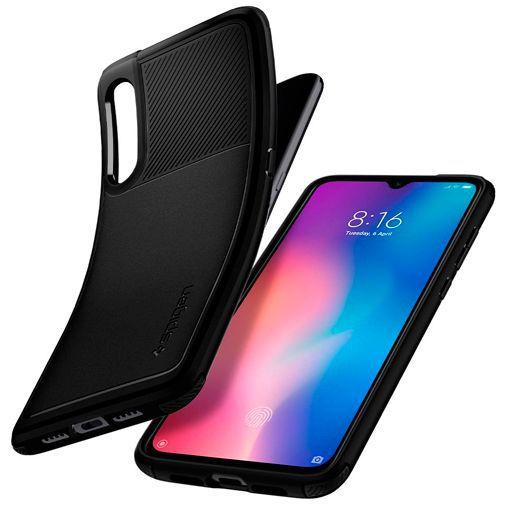Productafbeelding van de Spigen Rugged Armor Case Black Xiaomi Mi 9