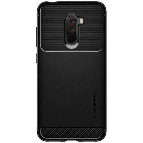 Productafbeelding van de Spigen Rugged Armor Case Black Xiaomi Pocophone F1