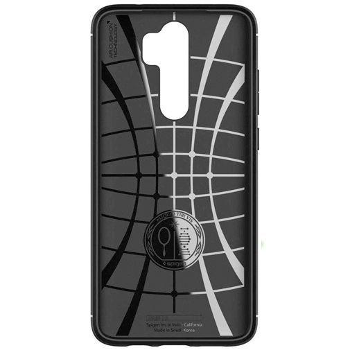 Productafbeelding van de Spigen Rugged Armor Case Black Xiaomi Redmi Note 8 Pro
