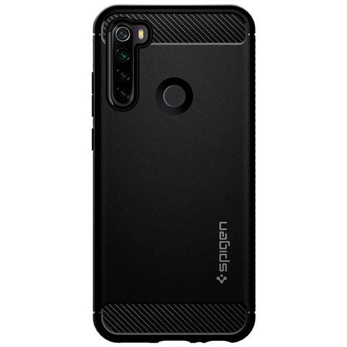 Productafbeelding van de Spigen Rugged Armor Case Black Xiaomi Redmi Note 8T