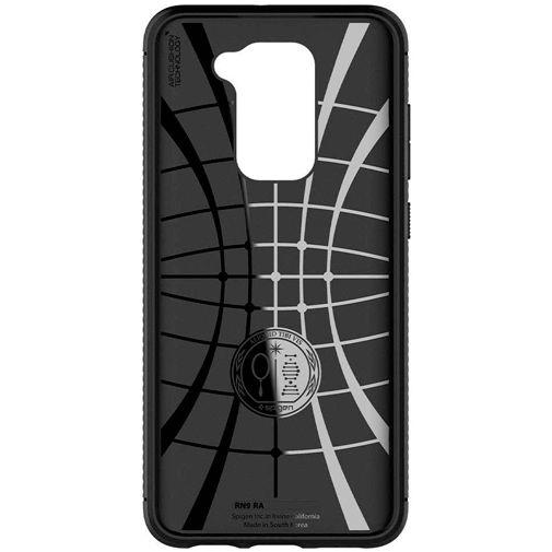 Productafbeelding van de Spigen Rugged Armor Case Black Xiaomi Redmi Note 9