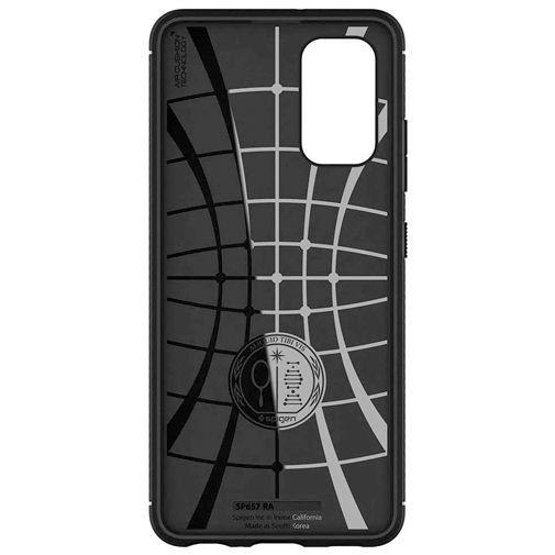Productafbeelding van de Spigen Rugged Armor TPU Back Cover Zwart Samsung Galaxy A32 5G