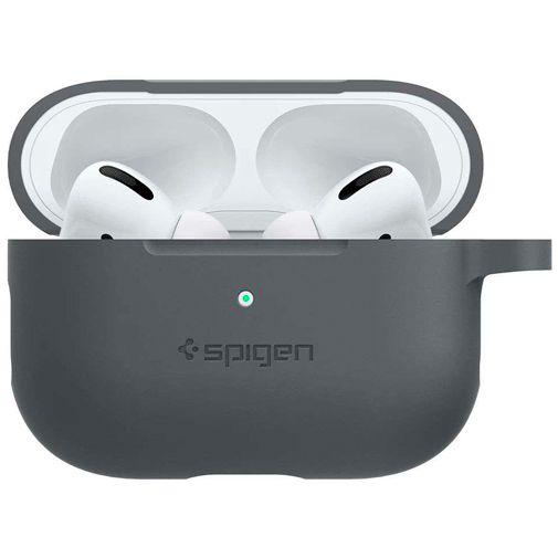 Productafbeelding van de Spigen Silicone Case Grey Apple AirPods Pro