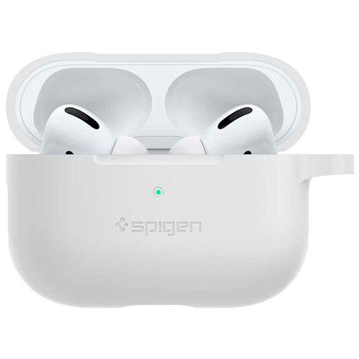 Produktimage des Spigen Silikon Case Weiß Apple AirPods Pro
