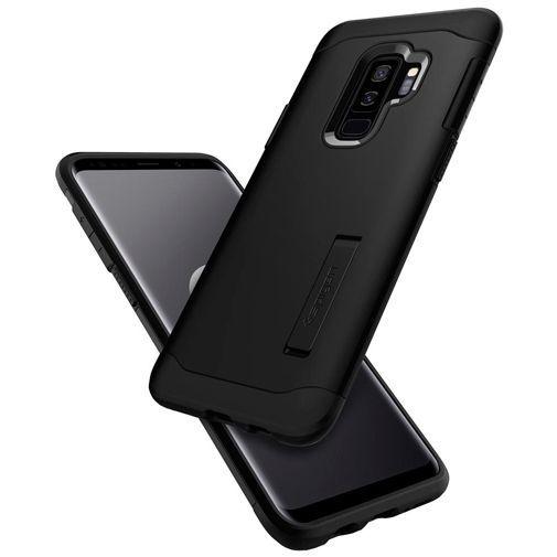 Produktimage des Spigen Slim Armor Hülle Schwarz Samsung Galaxy S9+