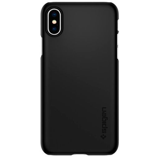 Productafbeelding van de Spigen Thin Fit Case Black Apple iPhone XS
