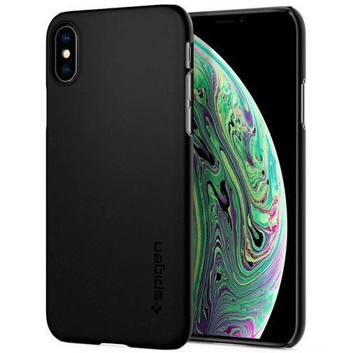 Produktimage des Spigen Thin Fit Hülle Schwarz Apple iPhone XS