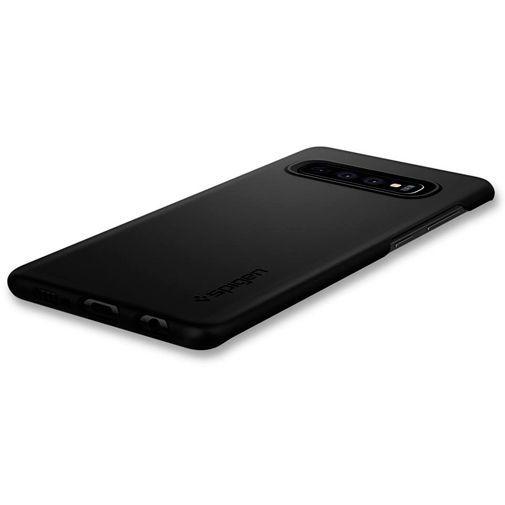 Produktimage des Spigen Thin Fit Hülle Schwarz Samsung Galaxy S10+