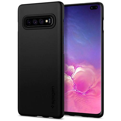 Productafbeelding van de Spigen Thin Fit Case Black Samsung Galaxy S10+