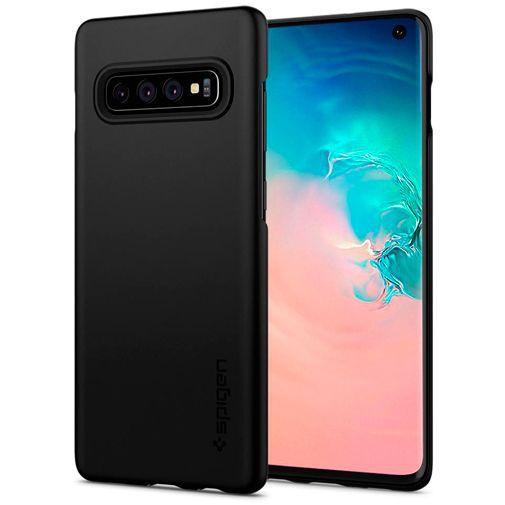 Productafbeelding van de Spigen Thin Fit Case Black Samsung Galaxy S10