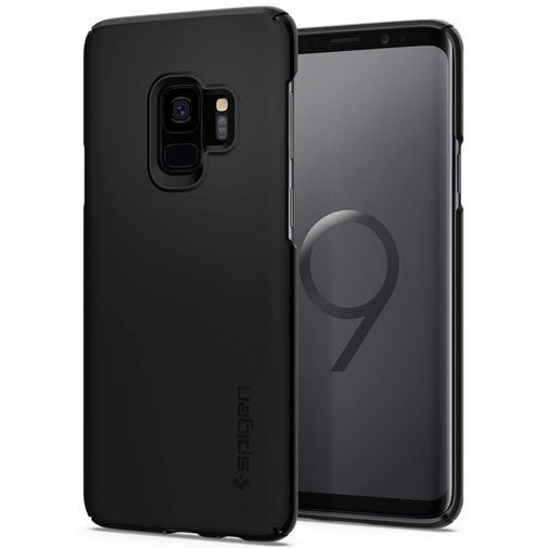 Productafbeelding van de Spigen Thin Fit Case Black Samsung Galaxy S9