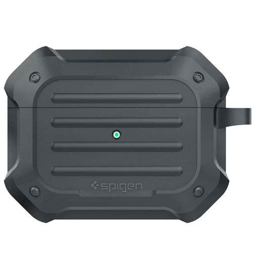 Produktimage des Spigen Tough Armor Case Grau Apple Airpods Pro