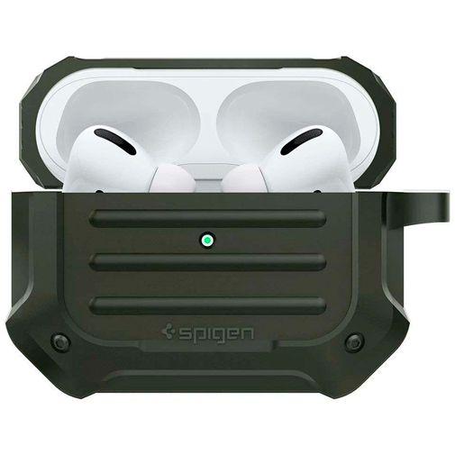 Productafbeelding van de Spigen Tough Armor Case Green Apple AirPods Pro